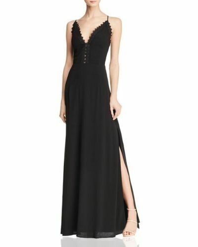 AQUA Lace-Trimmed Gown MSRP  Size L A 240 NEW