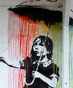 street art print  star wars jedi alley poster  painting A1 poster Australia