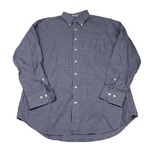 Peter-Millar-Mens-Long-Sleeve-Button-Up-Dress-Shirt-Large-Blue-White