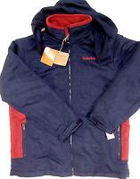 Timberland boys navy red polyester fleece jacket size large