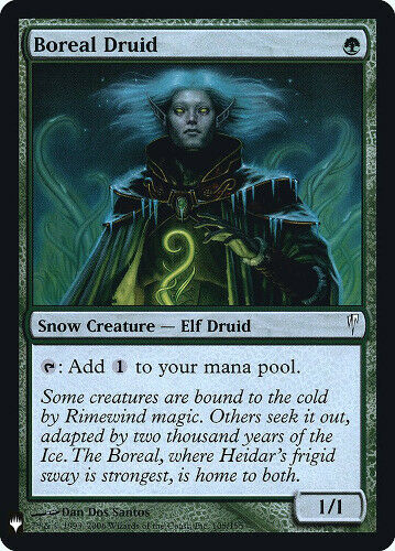 Boreal Druid Retail Mystery Booster Magic the Gathering Foil