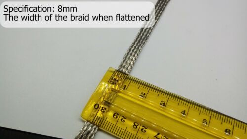 8mm EMI RFI Shielding Expandable Metal Braided Tinned Copper Cable Sleeving