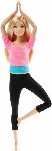 bewegliche und sportliche Barbie DHL82 Barbie Made to Move Puppe mit pinkem Top
