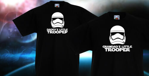 Kids STAR WARS EP 7 VII STORM TROOPER daddy/'s Grandad/'s Little Trooper T SHIRT
