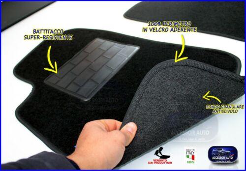 Tappetini Smart Fortwo 450 2000/>2007 tappeti per auto in moquette con battitacco