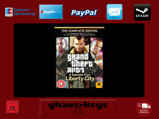 Grand Theft Auto IV 4 Complete Edition Steam Key Pc Game Code Neu Blitzversand
