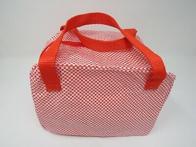 """IKEA 365 Lunch Bag Tote Box Red 8 ¾x6 ¾x6 ¼ /"""" Red Check 703.934.38 New"""