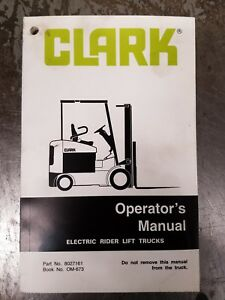 Clark forklift electric rider lift trucks operators manual ebay image is loading clark forklift electric rider lift trucks operator 039 fandeluxe Gallery