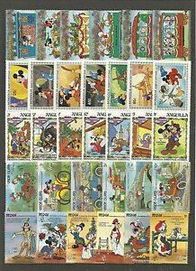 WALT-DISNEY-CARTOON-STAMPS-COLLECTION-PACKET-of-30-Different-Stamps-MNH-Lot-6