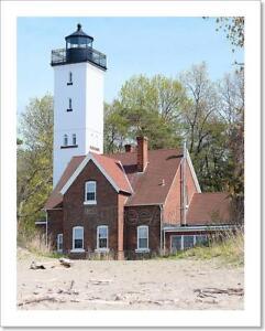 Presque Isle Lighthouse, Built In 1872 Art Print Home Decor Wall Art Poster - C