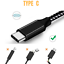 miniature 5 - 3 Pack USB Type C Cable Fast Charge Cord Braided For Samsung Galaxy S10 S9 HTC