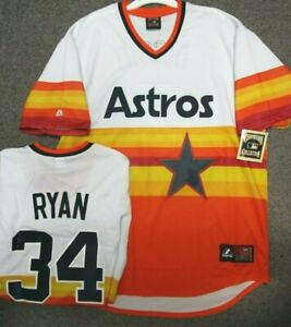 wholesale dealer 96125 c80ab Details about NOLAN RYAN HOUSTON ASTROS THROWBACK JERSEY SIZE 2X TALL  MAJESTIC NEW