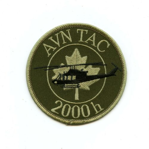 RCAF CAF Canadian 2000 Hrs Aviation Tactical French Squadron OD Crest Patch