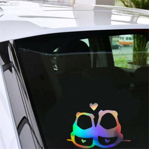 Two Pandas in Love Fun Car Sticker Window Laptop Wall Cartoon Home Switch Decal