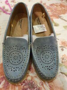 Blue Shoes Wide Fit UK 6 EEE   eBay