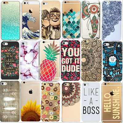 Various Fashion Pattern Skin Hard Back Case Cover For iPhone 5/5S 5C 6 6 7 Plus
