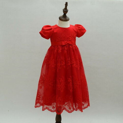 Newborn Baby Girls Christening//Birthday//Prom Tutu Red Party Princess Dress 35