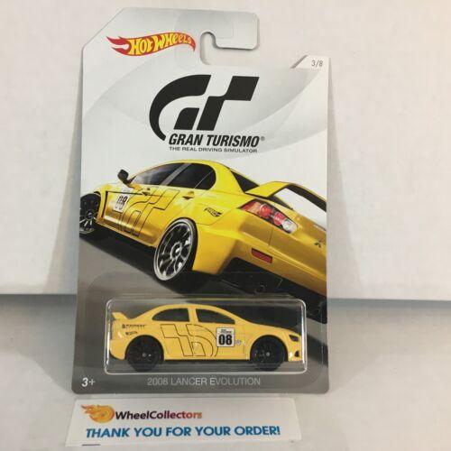 2008 Lancer Evolution Gran Turismo 2018 Hot Wheels G2 Yellow