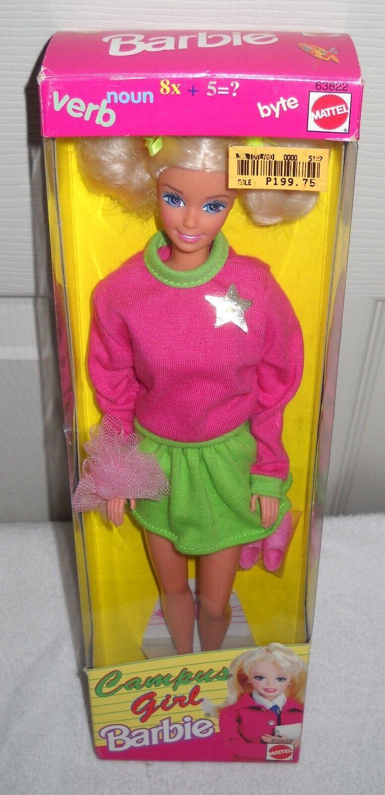 Nunca quitado de la Caja Mattel Filipinas campus Niña Barbie tema extranjeros