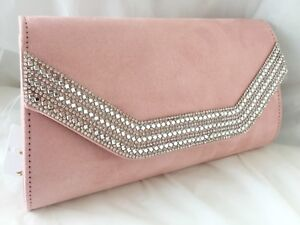 NEW GREY BURGUNDY RED ROYAL BLUE NUDE FAUX SUEDE EVENING CLUTCH BAG PROM PARTY