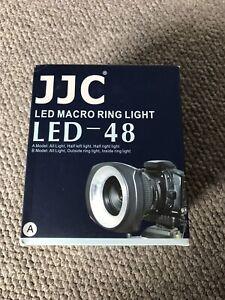 Macro LED Anello Luce. JJC 'LED 48' universale per DSLR Fotocamere Digitali MAI USATO