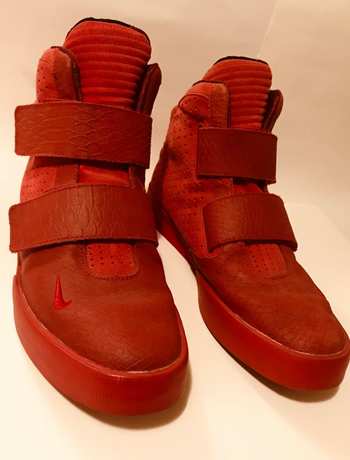 Nike Flystepper 2K3 shoes Sneakers Gym Red Red Red Mens US 10.5