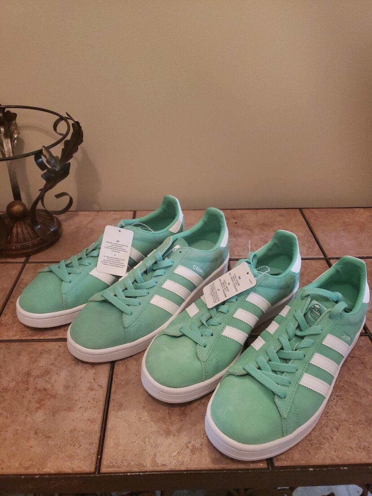 e0b4c2fd897a5 Adidas Mens Originals Campus Sneakers Green Glow White. Size 8.5. BZ0076