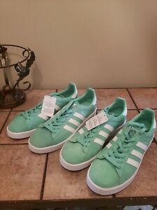 Details about New. Adidas Mens Originals Campus Sneakers Green Glow White. Size 8. BZ0076