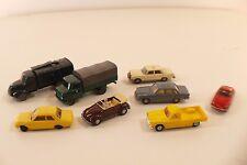 Wiking Märklin Lot de 8 voitures Volkswagen VW Peugeot Mercedes Volvo 1/87 HO