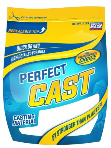 5X Stronger USA Made Non Toxic Perfect Cast 2lb Cast /& Paint Casting Material