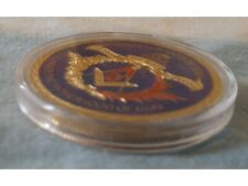 Masonic Coin Red Blue & Gold Free Mason Medal Unusual Jewel Knights Templar Old