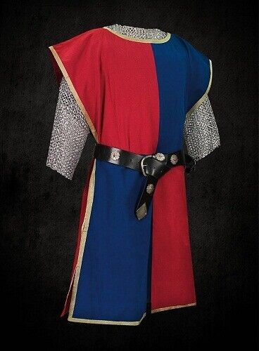 MEDIEVAL Red /& Blue Knight Tunic Surcoat Crusader Sleeveless Renaissance LARP