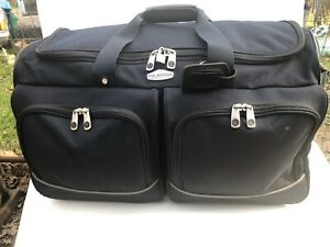 Rolling Duffel Bag 30 Dark Blue Pop Out