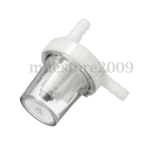 2x 14/'/' 6mm Motorcycle Inline Gas Petrol Fuel Filter Cleaner Pit Dirt Bike