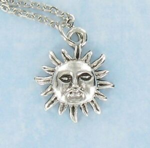 18  Pewter Moon Face Charms