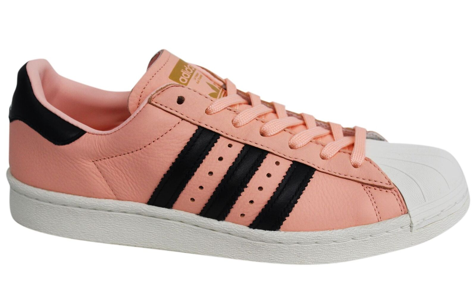 Adidas Originals Superstar Lace Up Pink Leather Mens Trainers BB2731 D126