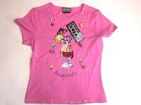 Berek 2 Womens Size M Cocktail Sequin Tee T- Shirt Embellished Top Drink