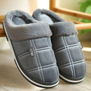 Large-Size-36-50-Men-Fur-Slippers-Winter-Warm-Cozy-House-Shoes-Indoor-Home