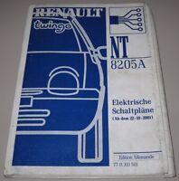 Werkstatthandbuch Elektrik Renault Twingo I elektrische Schaltpläne ab 10/2001!