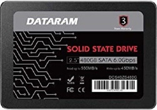 DATARAM 480GB 2.5 SSD Drive Solid State Drive Compatible with GIGABYTE GA-B150-HD3