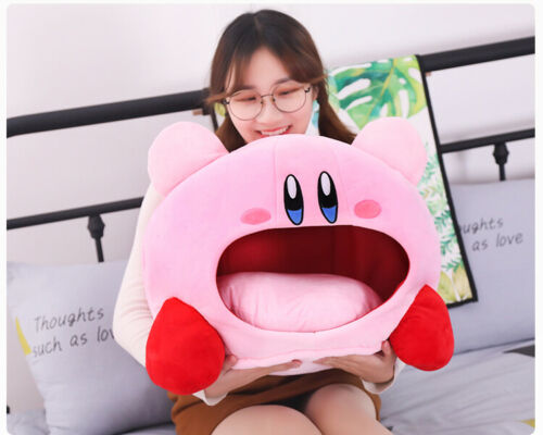 Cute Game Kirby Siesta Plush Sleep Pillow Toe Box Toy Pet Bed Soft Cosplay Gift