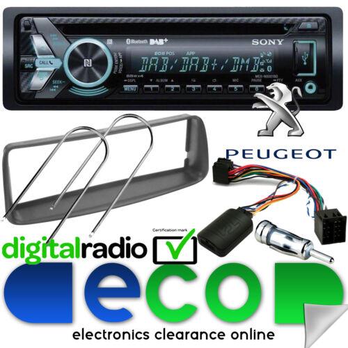 CD MP3 USB Bluetooth Estéreo De Coche Kit De Volante Peugeot 206 2002-10 Sony DAB
