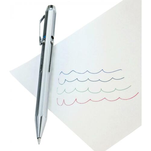 Vierfarb-Kugelschreiber mit Schiebemechanik chrom WEDO 256 226 4003801037981
