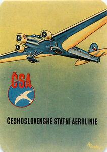 CZECHOSLOVAKIA-CSA-CESKOSLOVENSKE-STATNI-AEROLINIE-OLD-CIRCA-1938-LUGGAGE-LABEL
