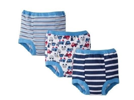 4 Pack Gerber Potty Training Pants Boy 3T Sz 3 Toddler New