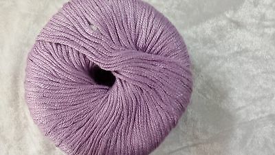 Heirloom Bamboo /& Wool 8 Ply #853 Lilac 50g