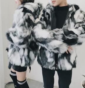 Mode Fourrure Hommes De Couleur Capuche Parka Mixte Femmes Unisexe Nouveau D'hiver Manteaux De À rPvnrx