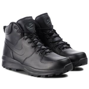 Men s Nike ACG Manoa Leather Boot Black Black Sizes 8-12 New In Box ... 64cfc6c8a74