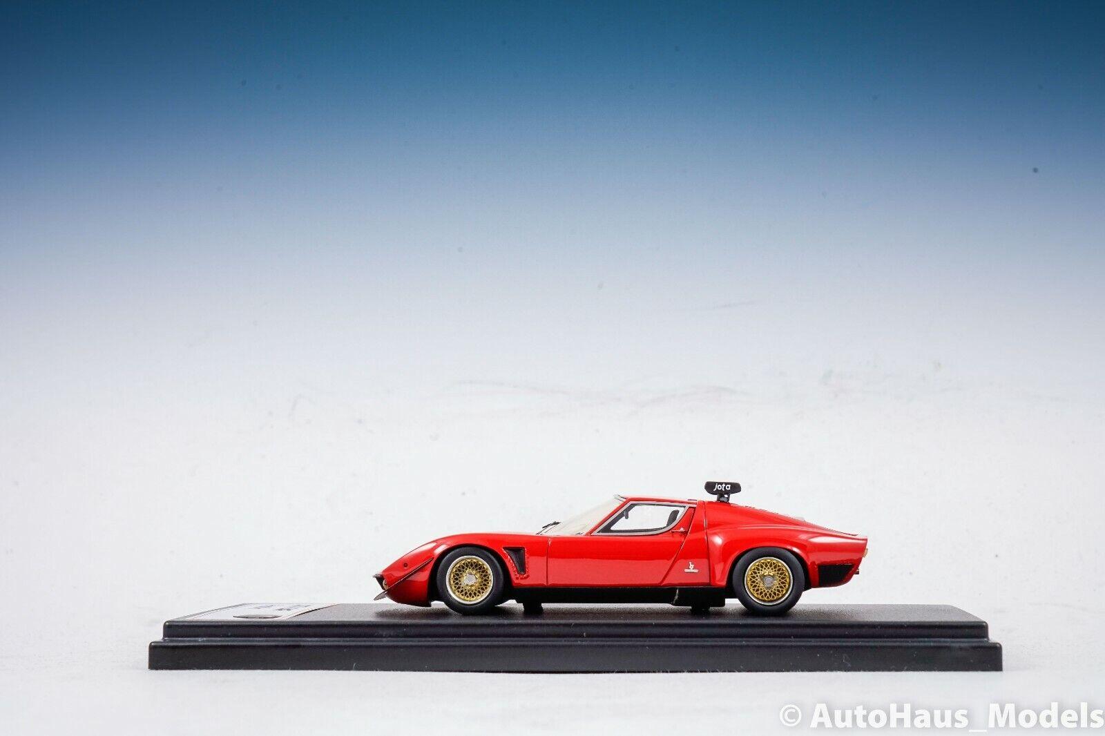 1 43 FRONTIART Lamborghini Miura Jota SVR rosso RARE