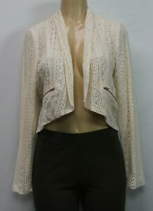 SM Xhilaration MED /& LG Rose Women/'s Long Sleeve Lace Trim Knit Cardigan